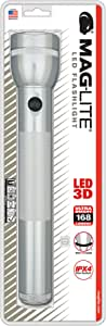 Maglite LED 3-Cell D Flashlight, Silver