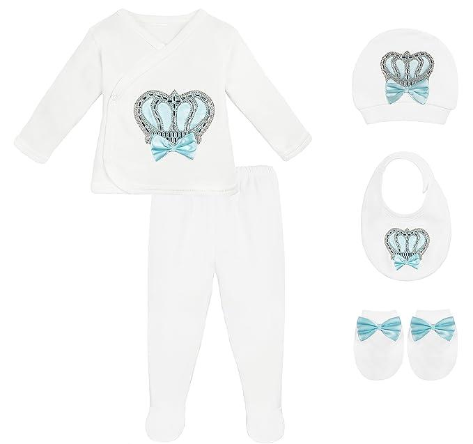 Amazon.com: lilax bebé niña recién nacido joyas de la corona ...