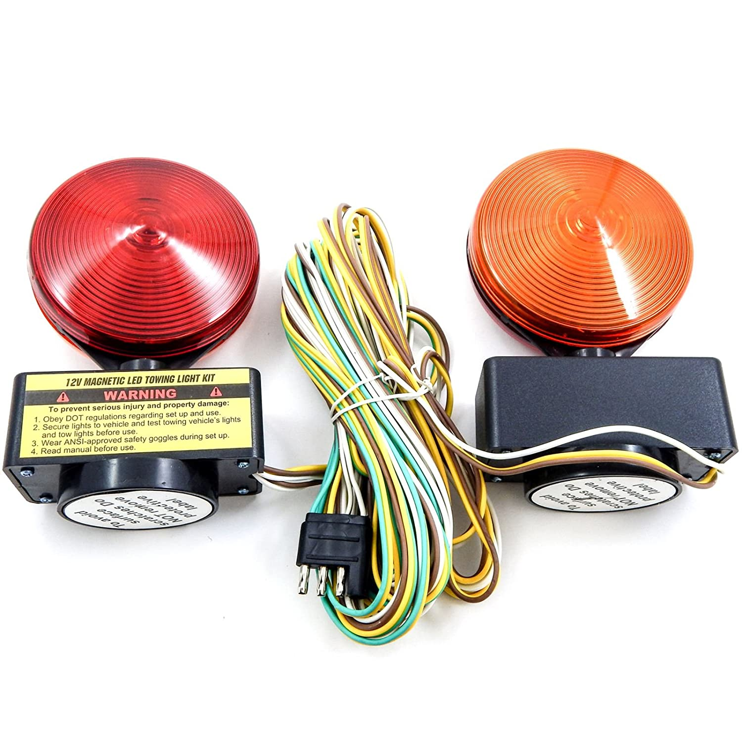 Red Hound Auto Magnetic Led Trailer Towing Light Kit Pin Boat Wiring Diagram Autos Post Magnet Mount Tow Tail Brake Lights 12v 40 Wire Harness Automotive
