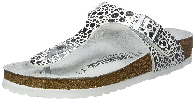 Birkenstock Women's Gizeh Metallic Sandals B075X2YSYN 41.0 EU|Metallic Stones Silver