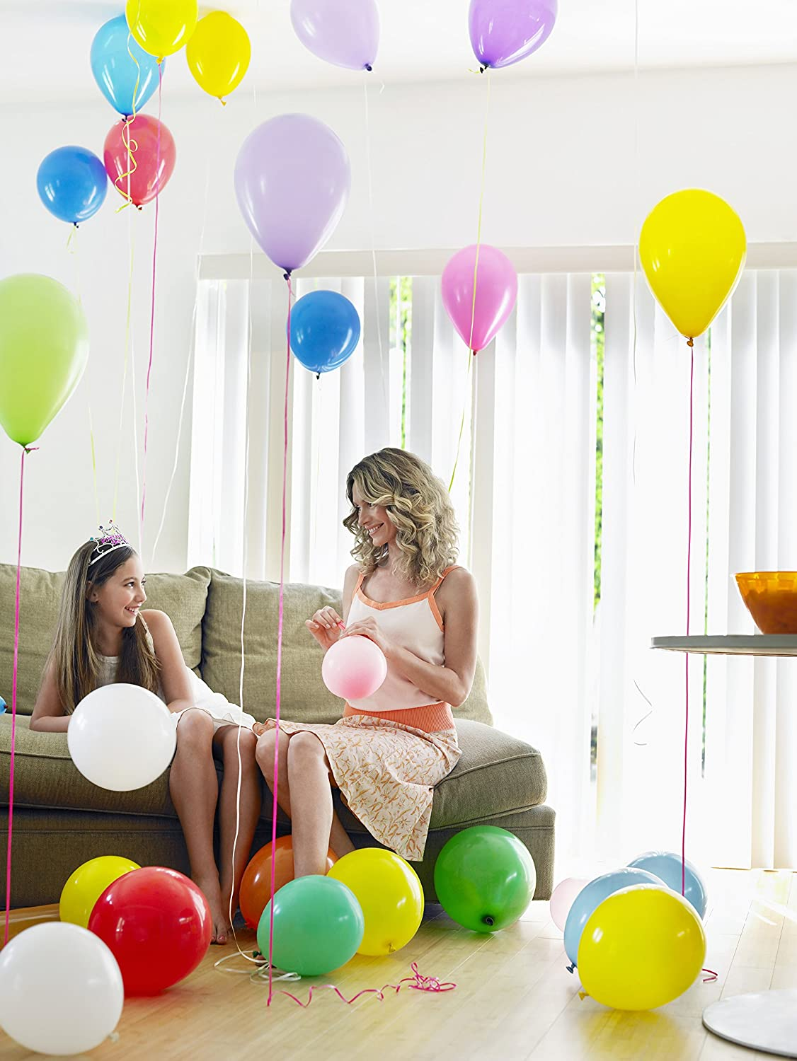 Treasures Gifted Unicorn Rainbow Balloons Set Bouquet in 12 Inch Latex Color Assorted Premium Quality for a Tropical Event at School Office