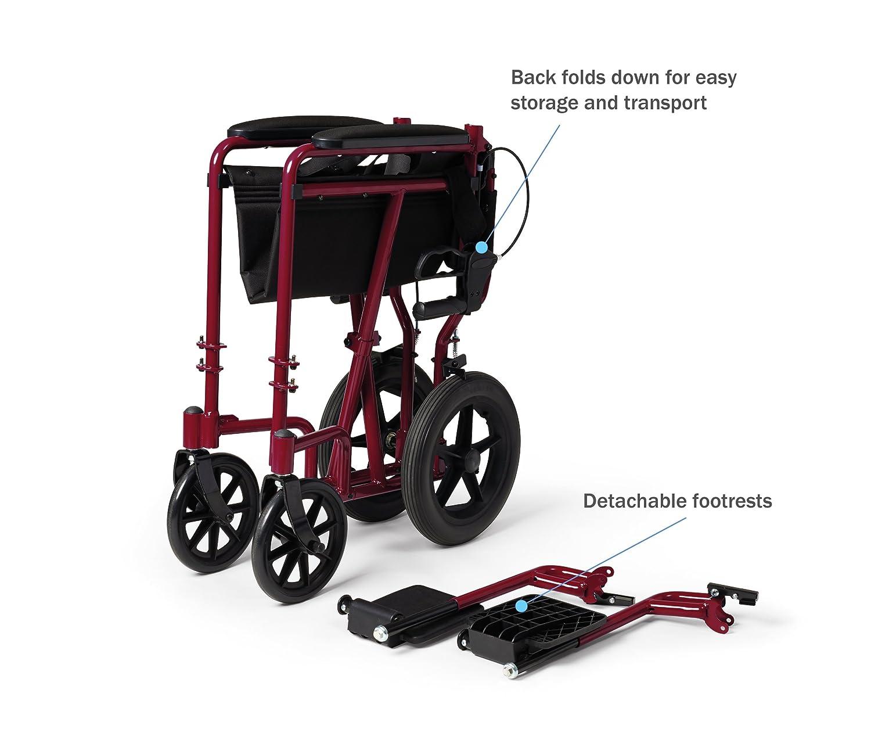 Amazon Medline Lightweight Transport Adult Folding Wheelchair