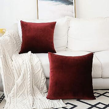 Amazon.com: Funda de cojín de terciopelo para sofá, silla ...