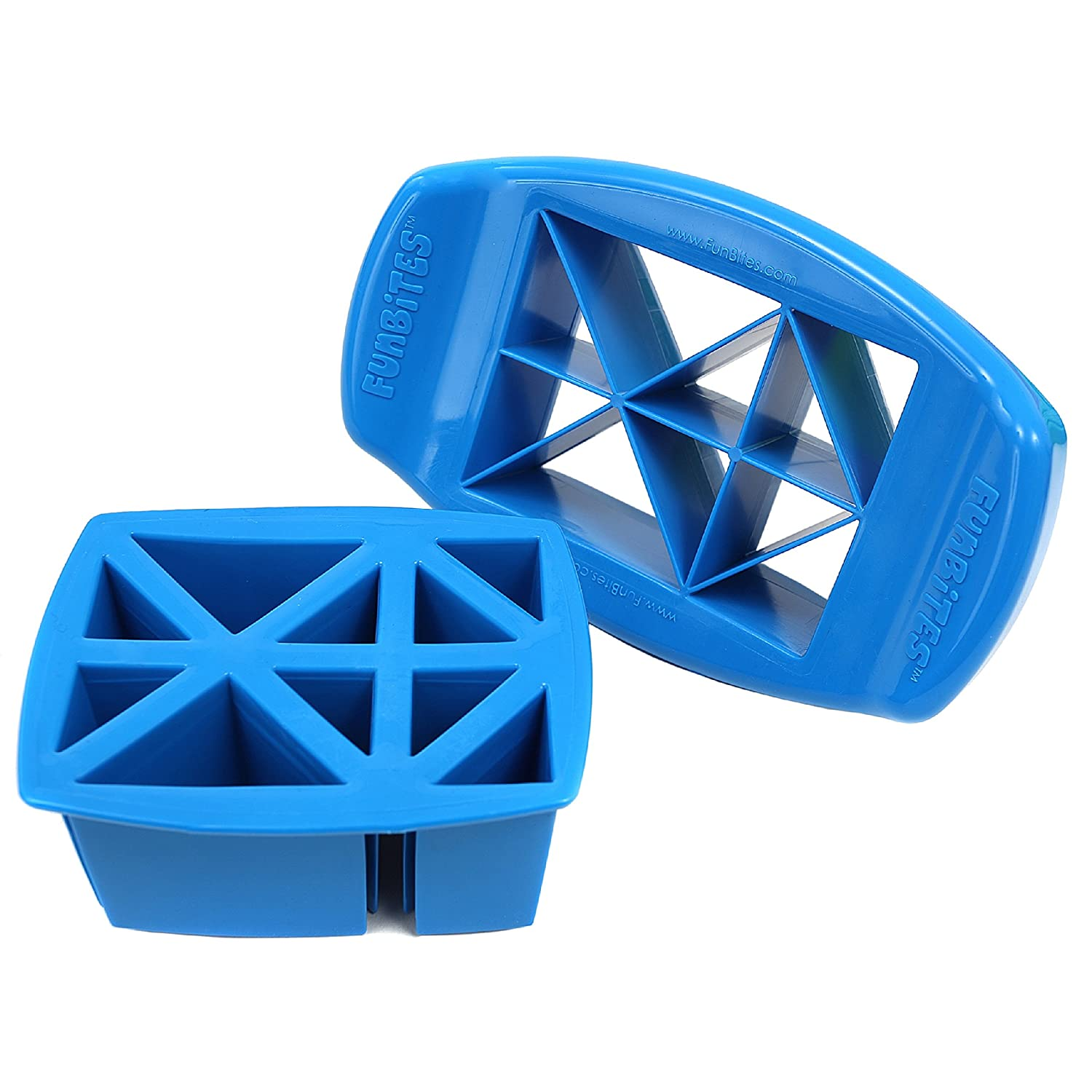 FunBites Food Cutter for Kids, Blue Triangles