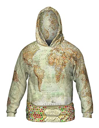 World Map Sweater.Amazon Com Yizzam Ash World Map Allover Print Mens Hoodie