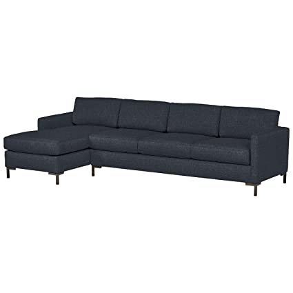 Rivet Edgewest Low Back Modern Left Sofa Chaise Sectional, 115