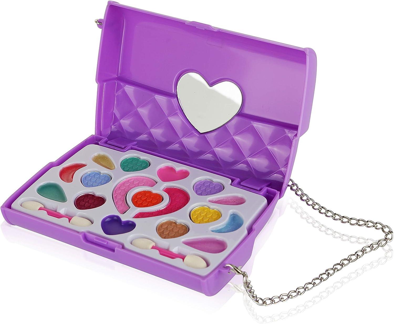 Pinkleaf Kids Makeup Kit for Girls - Toddler Toys - Safe & Non-Toxic Cosmetics – Gift Set - Washable Makeup Set