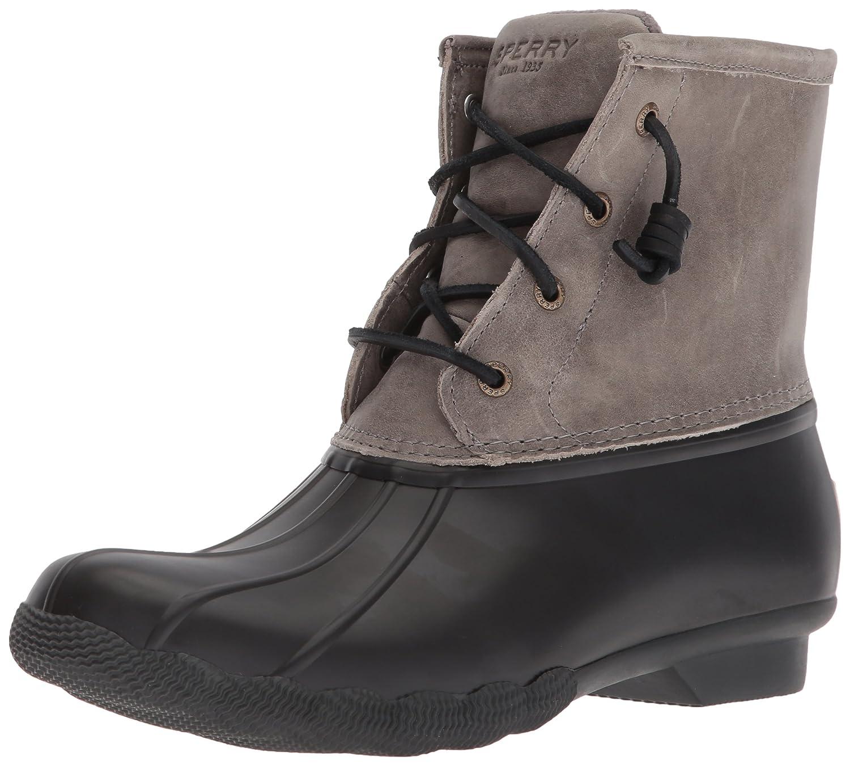 Sperry Women's Saltwater Boot B06XV187QS 12 B(M) US|Black/Grey