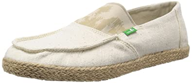 Sanuk Men's Commodore Stretch Loafers Natural Hazy Palms 8