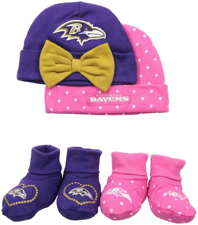 a11b550de035a5 Amazon.com : Gerber Childrenswear Dots 4 Pack Cap & Bootie Set, 0 - 6 Months,  Grey, Baltimore Ravens : Sports & Outdoors
