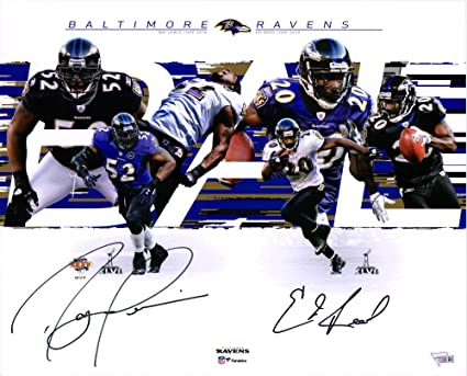 the best attitude 3ca5c 15817 Ray Lewis, Ed Reed Baltimore Ravens Dual-Signed 16