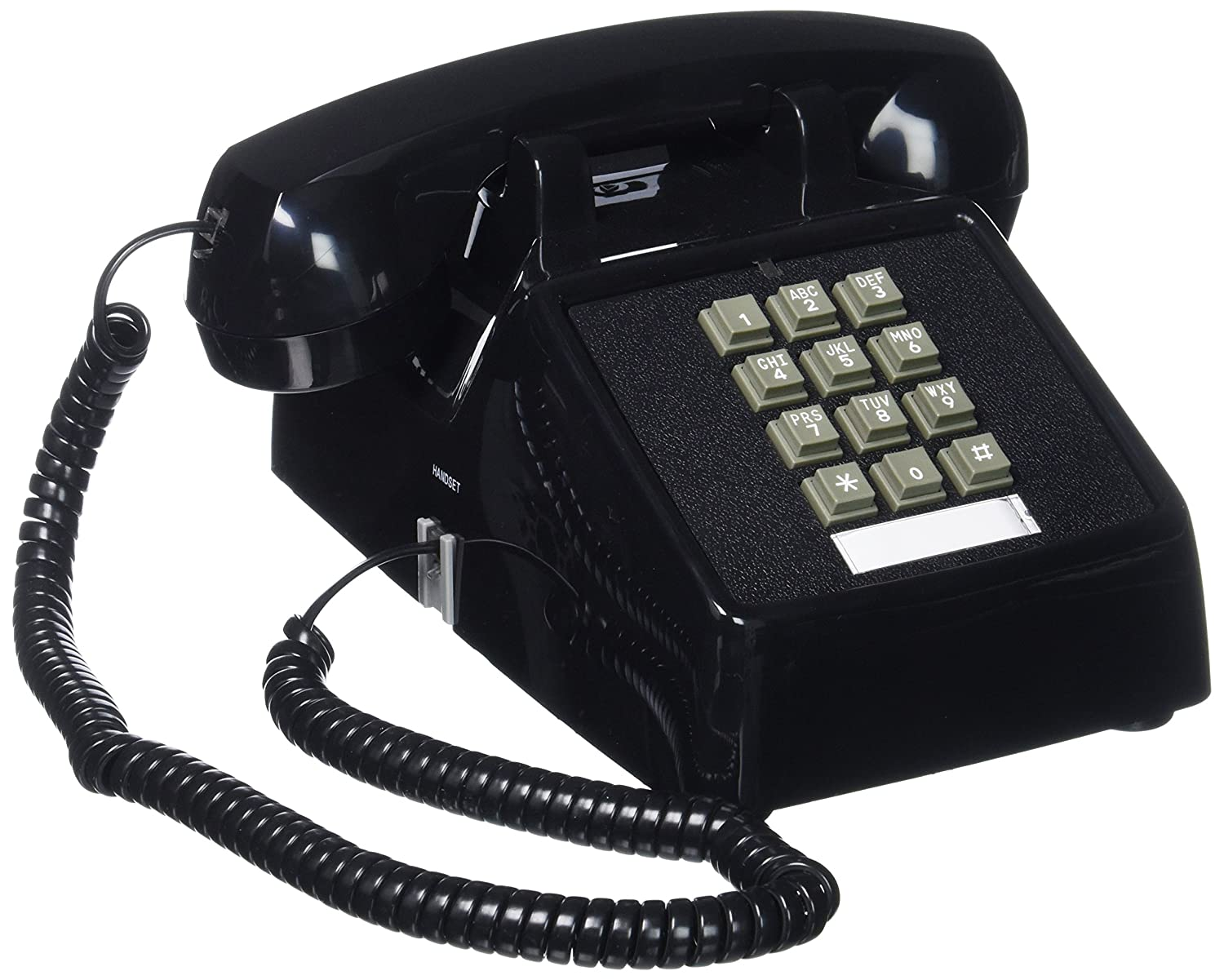 Amazon.com : Cortelco (ITT-2500-MD-BK) Single Line Desk Telephone : Corded  Telephones : Electronics