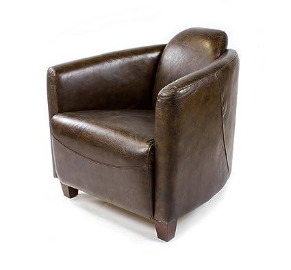 Brauner Ledersessel Von Phoenixarts Vintage Loungesessel Wonoro