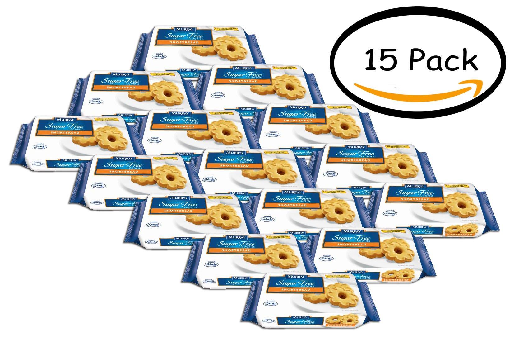 PACK OF 15 - Murray Sugar Free Shortbread Cookies with Splenda by Murray Sugar Free