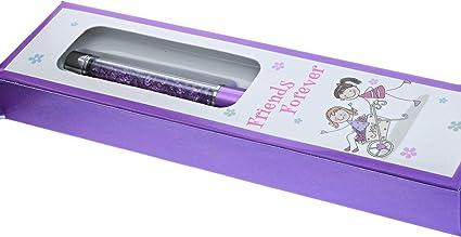 Bolígrafo con purpurina de la amistad para niñas en caja de presentación, color Purple Friends Forever: Amazon.es: Oficina y papelería