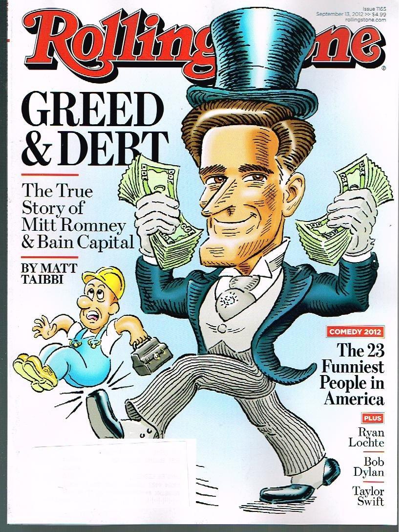 Read Online Rolling Stone Magazine (September 13, 2012) Mitt Romney Cover PDF