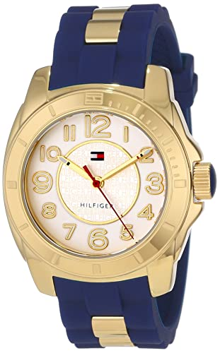 Tommy Hilfiger Women s 1781307 Casual Sport Gold-Plated Case and Links with Silicone Strap Watch