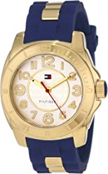 Tommy Hilfiger Women s 1781307 Casual Sport Gold-Plated Case and Links with  Silicone Strap Watch f1b308cc3e9