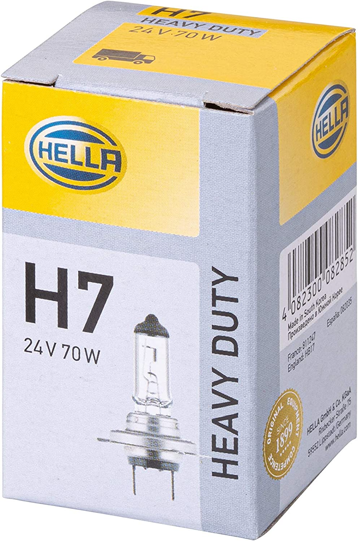 Hella 8gh 007 157 241 Glühlampe H7 Heavy Duty 24v 70w Sockelausführung Px 26 D Schachtel Menge 1 Auto