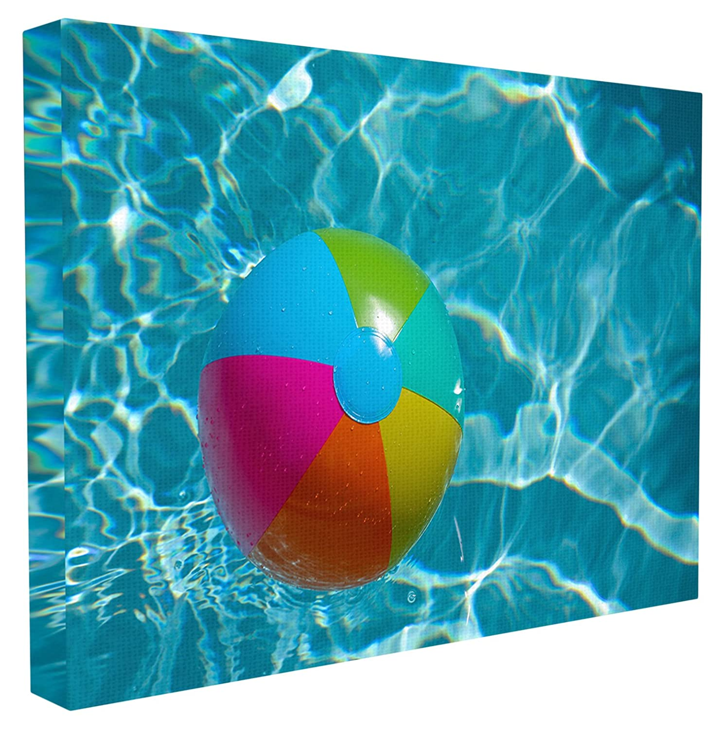 Stupell Home D/écor Beach Ball Pool Time Oversized Stretched Canvas Wall Art 24 x 1.5 x 30 Proudly Made in USA