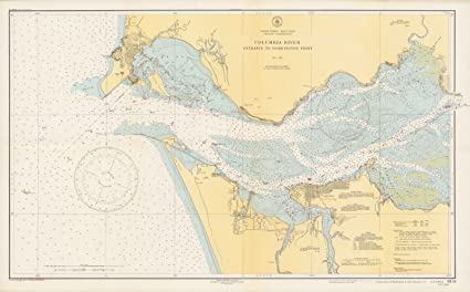 Amazoncom Historic Map Chart Map Columbia River Entrance To - Columbia-river-map-us
