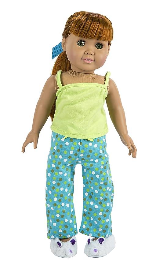 Fibre Craft La colección Springfield Pijama Traje, Green Top ...