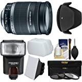 Canon EF-S 18-200mm f/3.5-5.6 IS Zoom Lens with Flash + 3 Filters + Diffusers + Hood + Kit for EOS 7D, 70D, Rebel T3, T3i, T5, T5i, SL1 DSLR Cameras