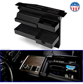 Loveyes 1pc Dash Center Console Storage Box Console Tray Phone Key Organizer for 2015-2020 Ford F150