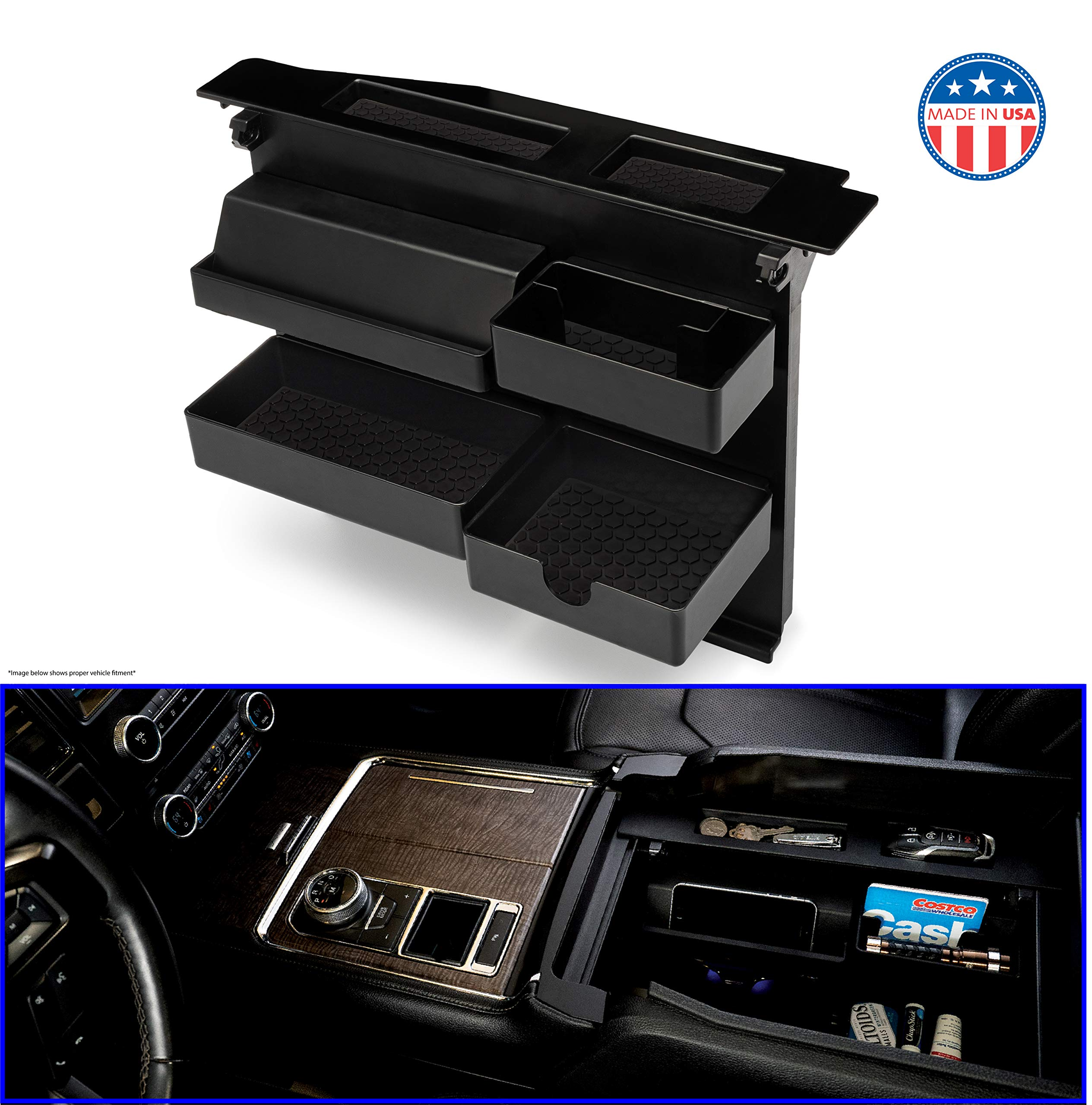 15-19 fits F150 Underseat Storage Box System Organizer Contaier Crew Cab Only