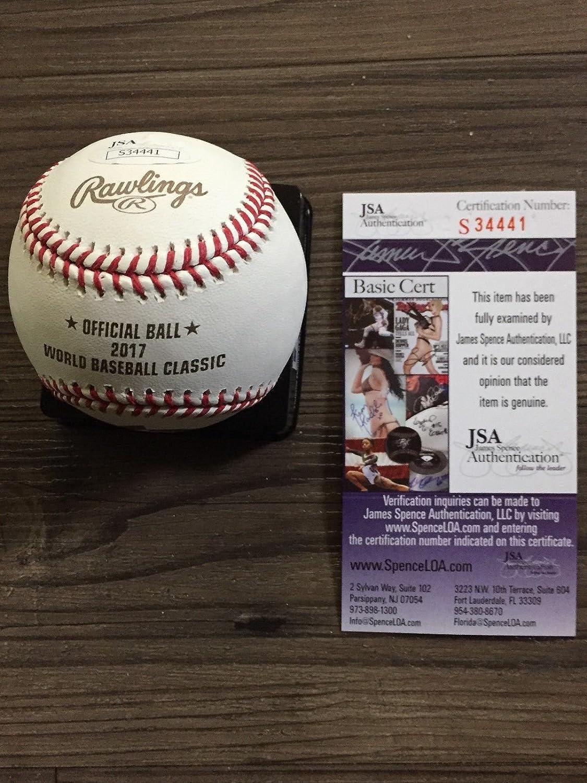 Sports Mem, Cards & Fan Shop Jose Bautista Autographed Signed 2017 Wbc Baseball Ball Blue Jays Jsa Coa