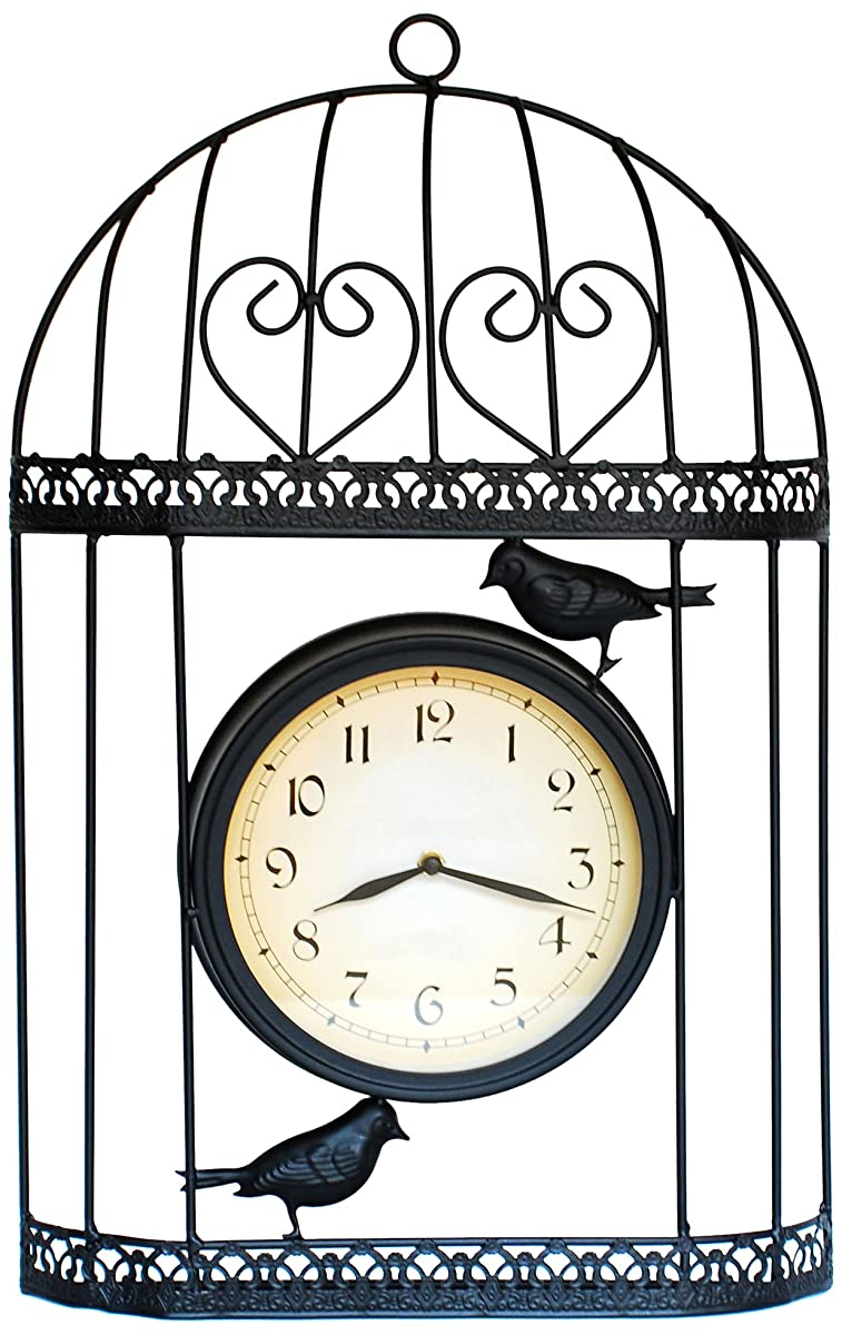 Ashton Sutton H963-20 Bird Cage Metal Wall Clock
