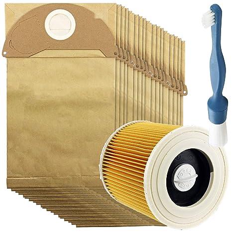 Spares2go - Filtro de cartucho + 20 bolsas de polvo + ...