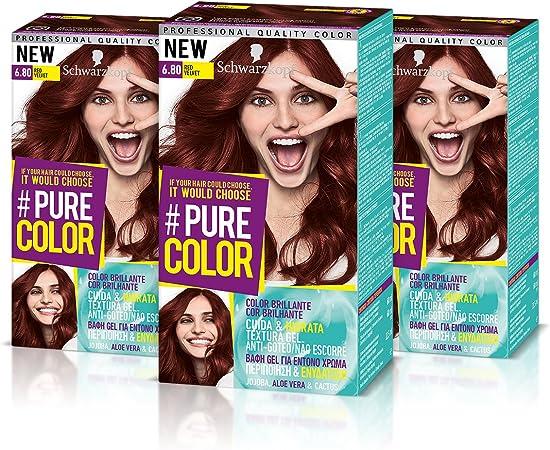 Schwarzkopf Pure Color Tinte Permanente 6.80 Red Velvet ...