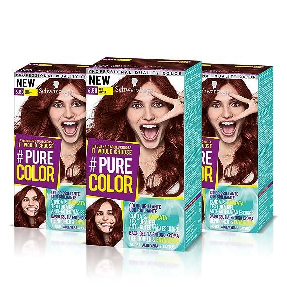 Schwarzkopf Pure Color Tinte Permanente 6.80 Red Velvet: Amazon.es: Belleza