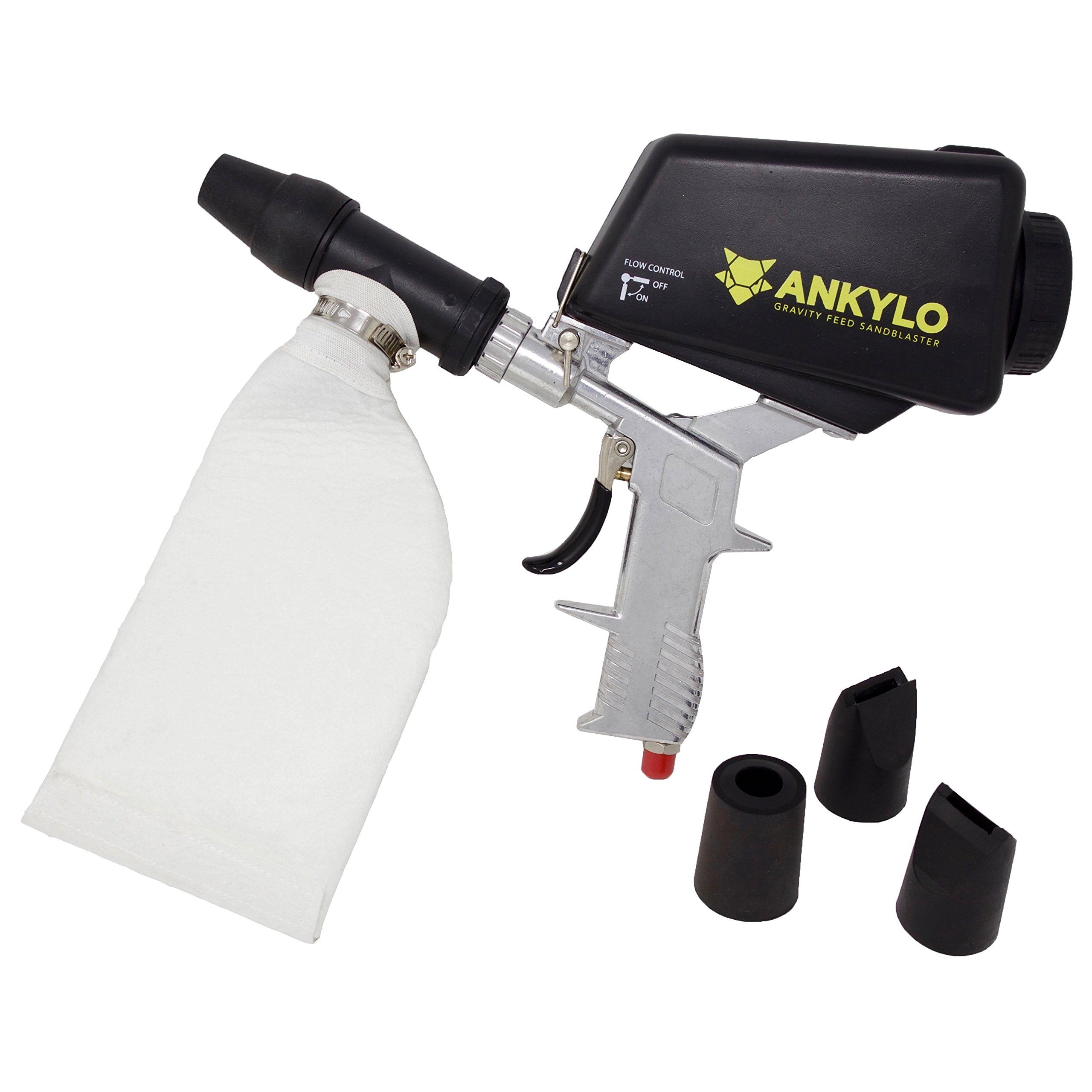 Gravity Sandblaster Gun - Durable Metal - Handheld and Portable with bonus Spot Blasting Kit - Remove Rust & Paint, Clean Tools & Parts, Create Art by ANKYLO Tools (Image #2)