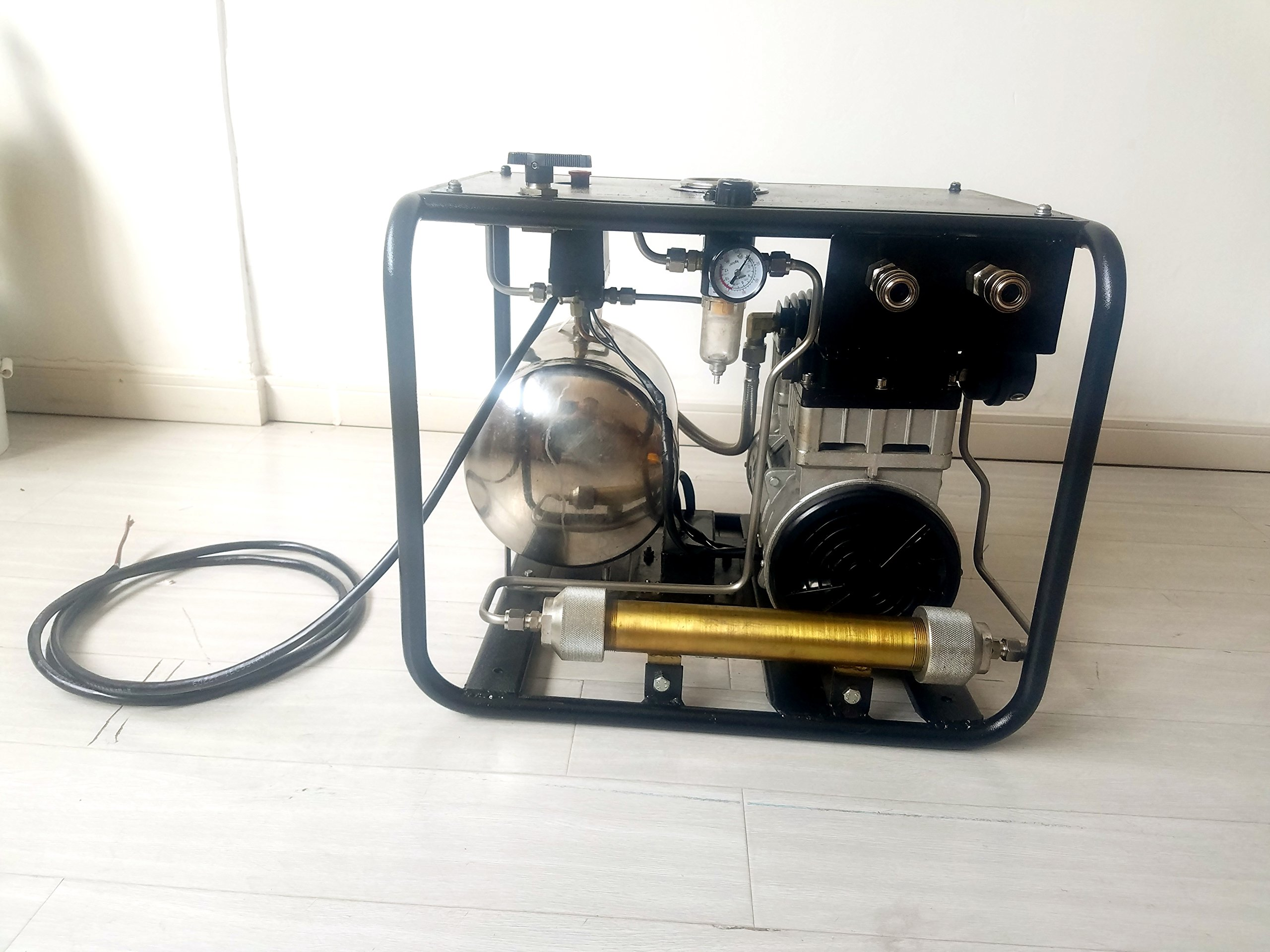 D Machinery Oil-free Hookah Dive System Third Lung Serface, 110V Electronic Compressor with 15m / 50 ft Hose & Regulator/Respirator, SCU80E (1100W) by D Machinery (Image #3)