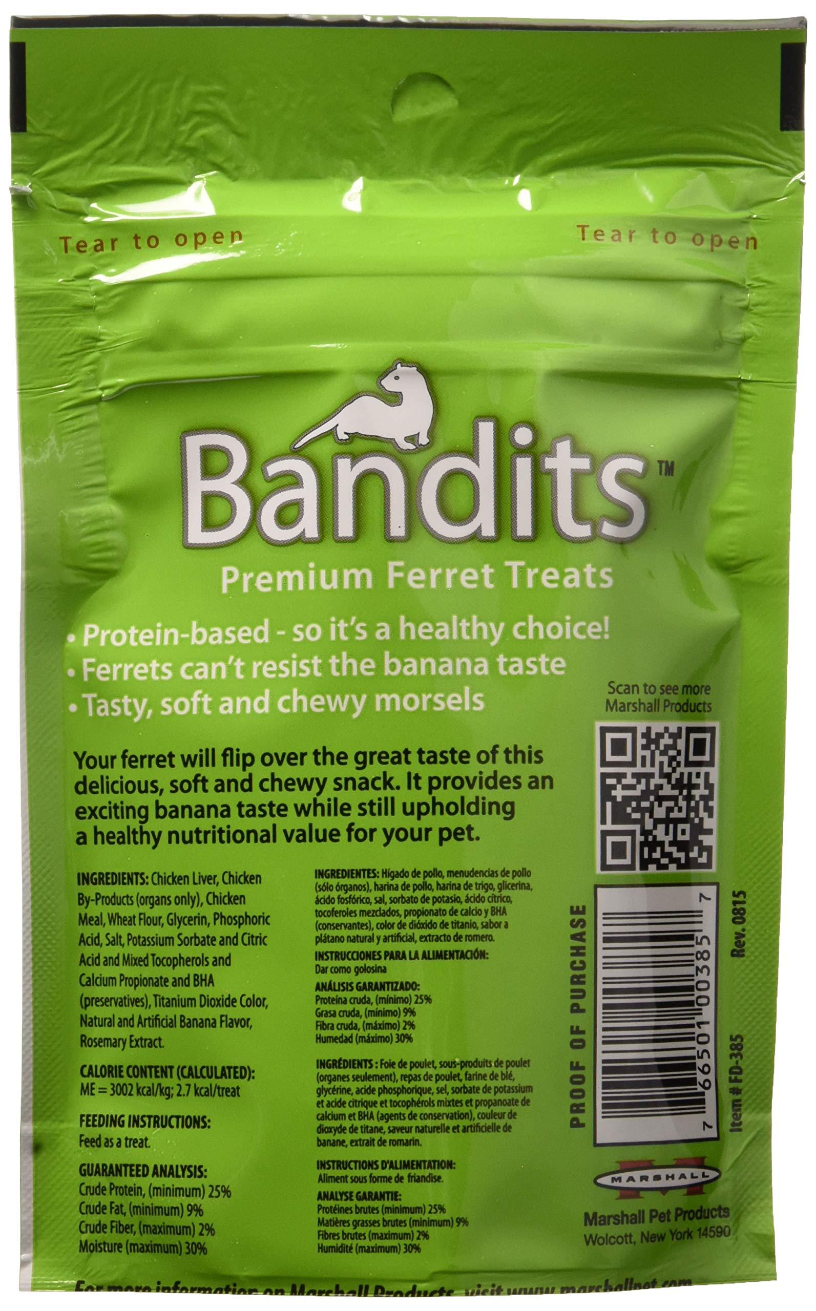 Marshall Bandits Ferret Treat Banana 1.875lbs (10 x 3oz) by Marshall (Image #4)