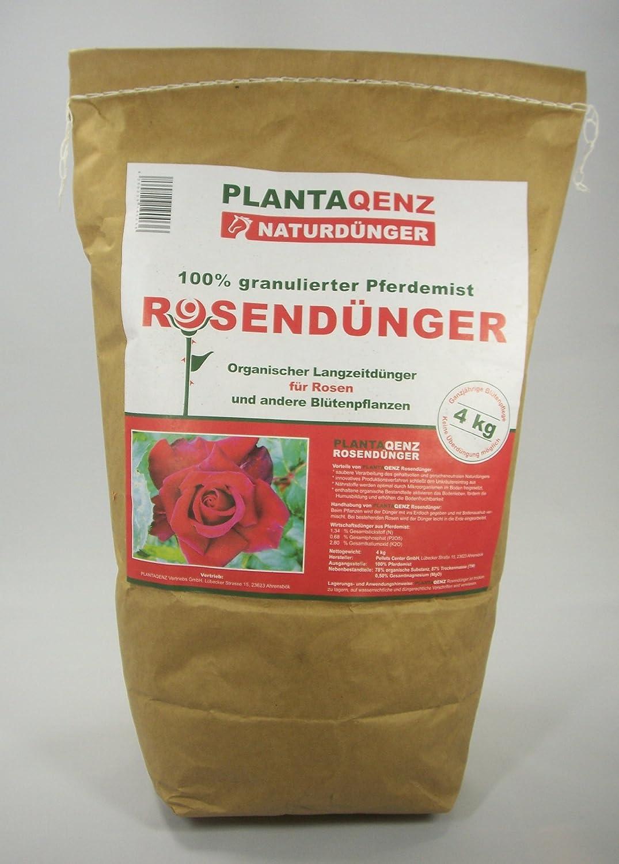4KG JODA Plantaqenz-Rosendünger 100% granulierter Pferdemist (2,49 €/Kg) Bio ÖKO 49 €/Kg) Bio ÖKO
