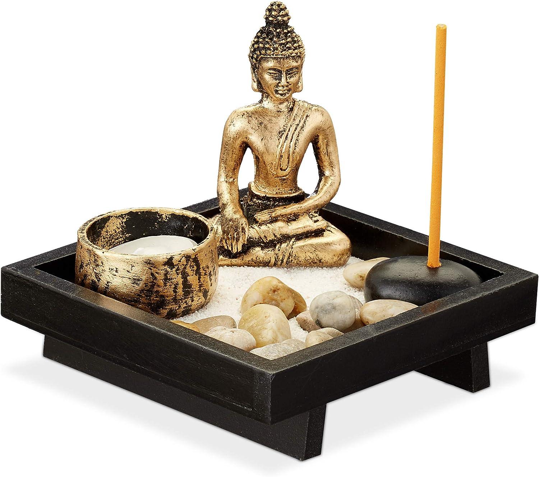 FEIYANG SPA Stone Decor Buddha Est/á Sentado En El Jard/ín Zen con Alfombras De Ba/ño con Flores Antideslizantes Felpudo Piso De Entrada Puertas Delanteras Interiores Alfombra De Ba/ño para Ni/ños 60x40cm