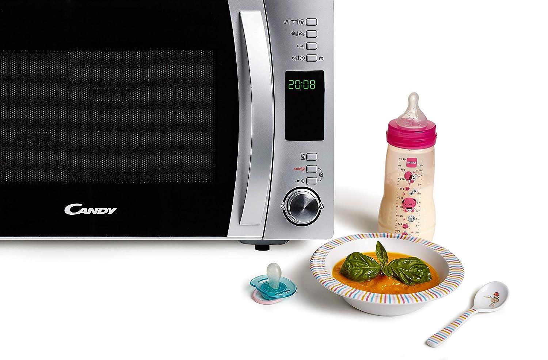 Candy CMXG22DS - Microondas con grill y cook in app, 22 L, 40 programas automáticos, 800 W / 1000 W, color plata