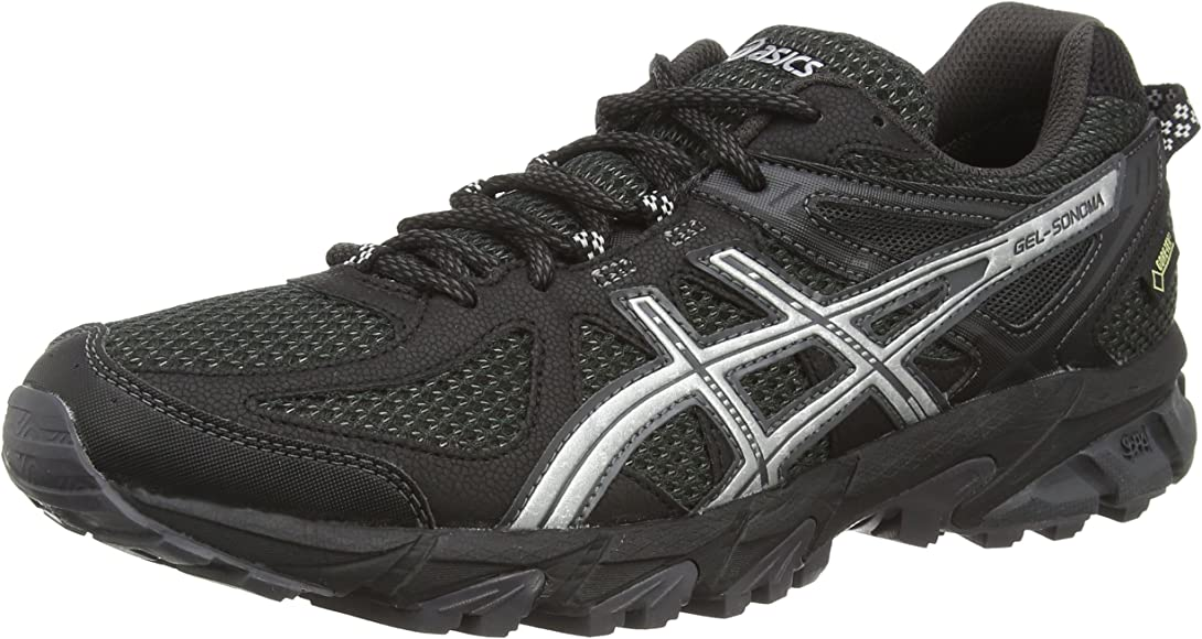ASICS Gel-Sonoma G-TX - Zapatillas de Trail Running para Mujer, Color Negro (Black/Silver/Dark Grey 9093), Talla 38: Asics: Amazon.es: Zapatos y complementos