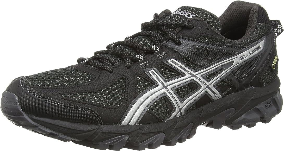 ASICS Gel-Sonoma G-TX - Zapatillas de Trail Running para Mujer, Color Negro (Black/Silver/Dark Grey 9093), Talla 38: Asics: Amazon.es: Zapatos y complementos