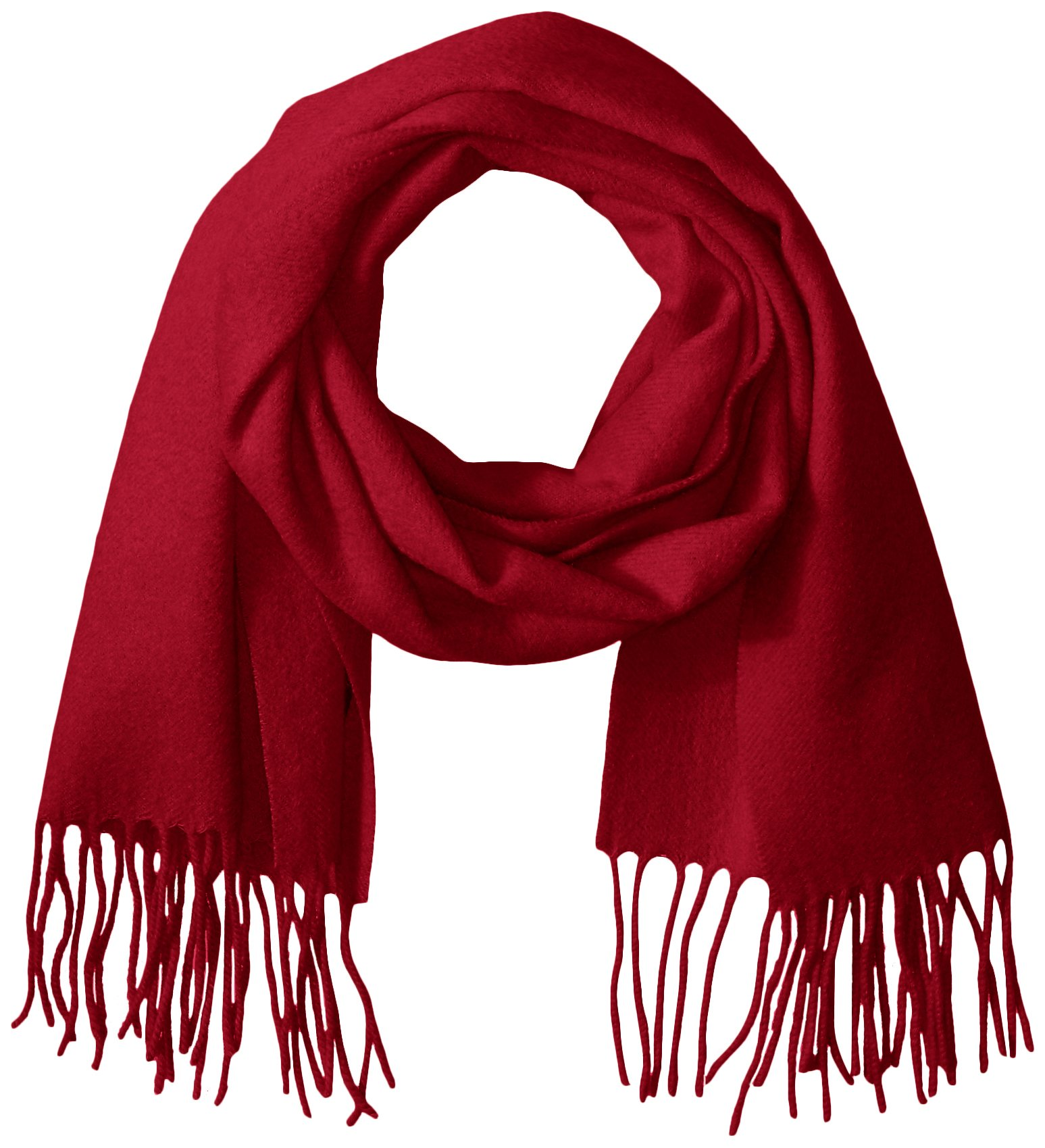 Phenix Cashmere Women's Solid 100 Percent Cashmere Scarf, Red, One Size