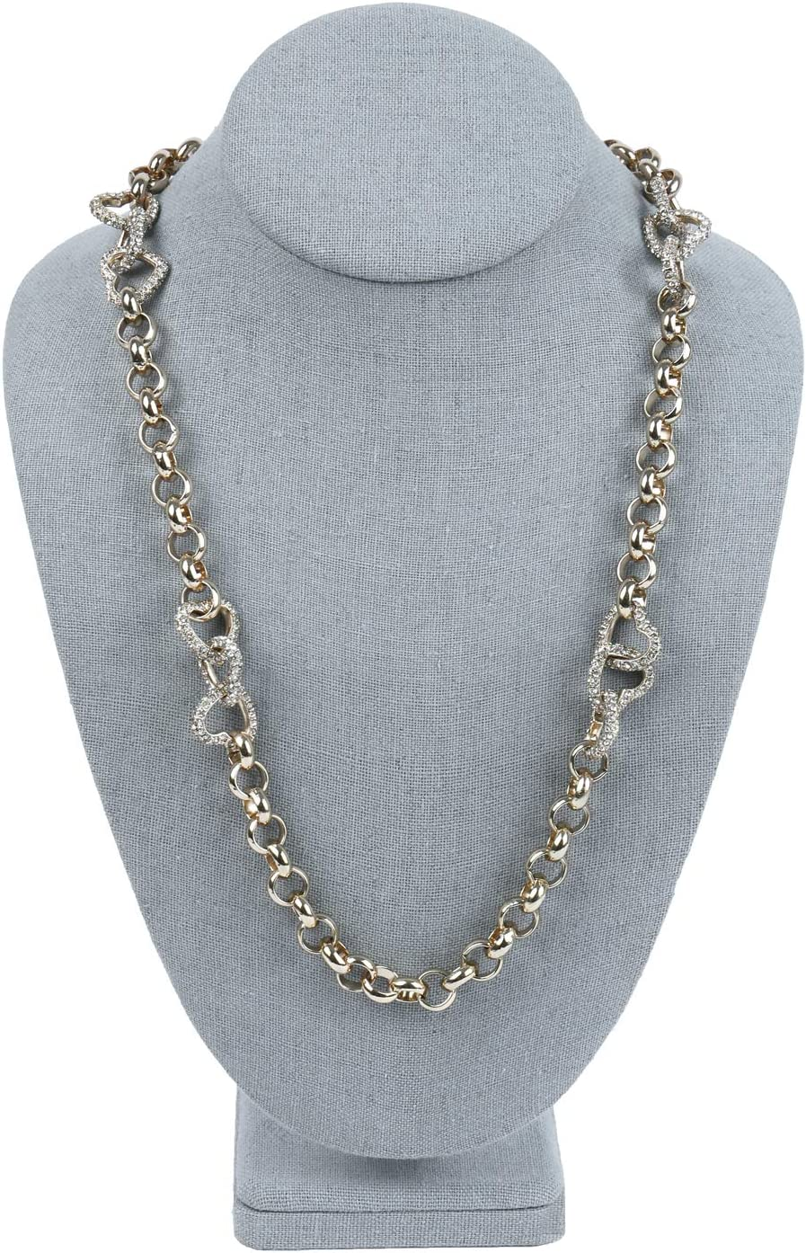 Details about  /Plastic Pendant Necklace Chain Earring Bust Neck Display Stand Holder Showcase U
