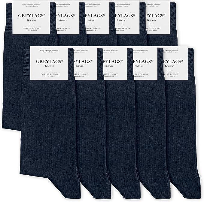 Greylags Prima Calcetines Algodón Peinado Costuras Cosidas a Mano Cómodo Business Calcetines | Hombres y mujeres | 80% Algodón | Certificado Oeko-Tex Standard 100: Amazon.es: Ropa y accesorios