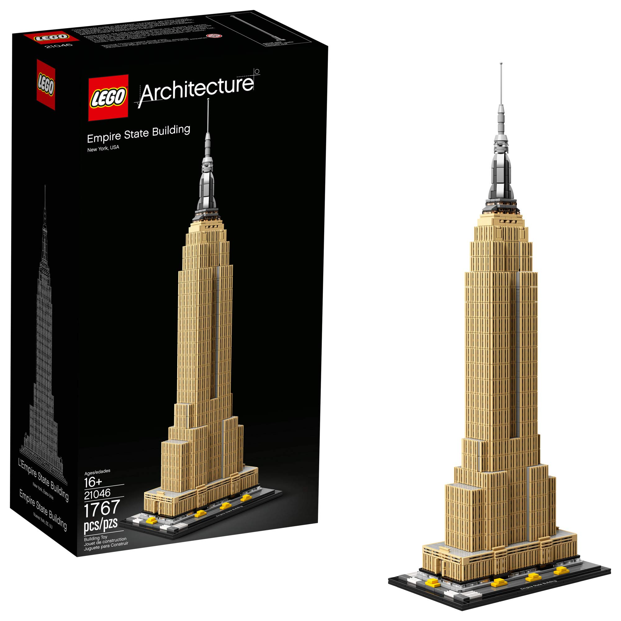 LEGO Architecture Empire State Building 21046 Ciudad de Nueva York Skyline Architecture Model Kit para adultos y niños, Build It Yourself Model Skyscraper (1767 Piezas)