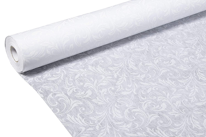 Elegant Leaf Imprint Essential Indoor and Outdoor Wedding Decoration Dream Wedding Decor Supplies Polyester Paper 3 x 100 Feet Blue Panda Wedding Aisle Runner