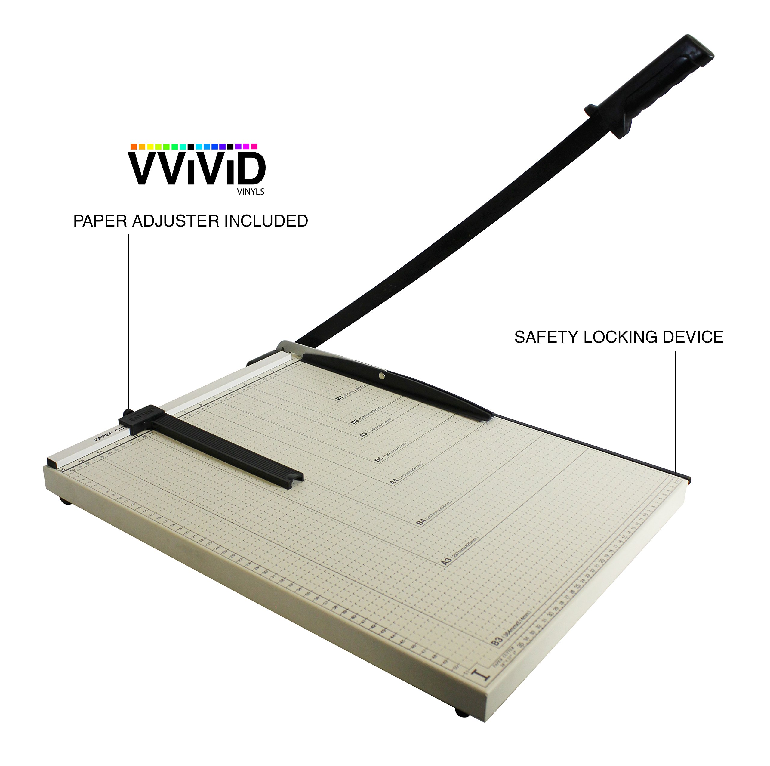 VViViD 21'' x 16'' Guillotine Cutting Blade Gridded Metal Base Paper Trimmer