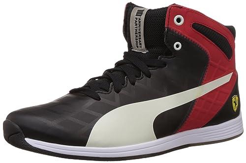 Notorio acceso Desalentar  Buy Puma Unisex Evospeed 1.4 SF Mid 10 Black and Red Sneakers - 8 UK at  Amazon.in