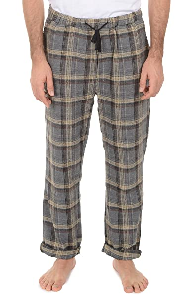 a86fa81805 Jachs Men s Flannel Pajama Bottoms - Comfortable Lounge Pants for Men  w Pockets - Grey